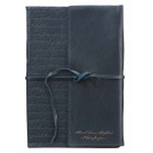 Journal: Full Grain Leather - I Know the Plans Dark Blue