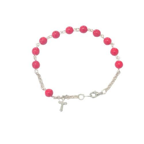 Rosary Bracelet: Opaque Glass Beads