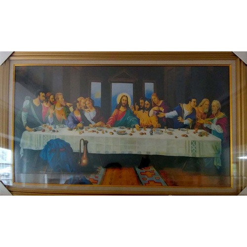Framed Picture: Last Supper - X-Large 130cm x 67cm