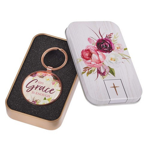 Keyring in Tin: His Grace is Enough