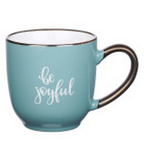 Mug: Be Joyful Teal