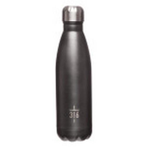 Water Bottle: John 3:16 Promise Insignia - Stainless Steel Grey