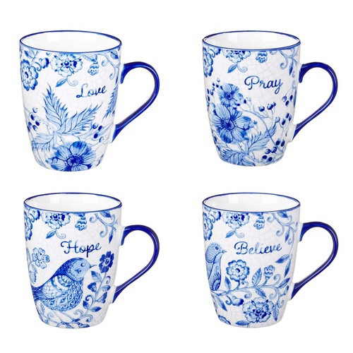 Mug: Believe Hope Pray Love - Set