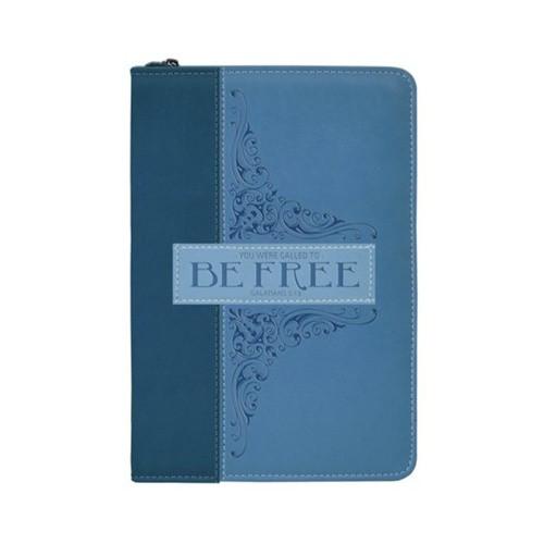 Journal: Be Free - Navy Zip