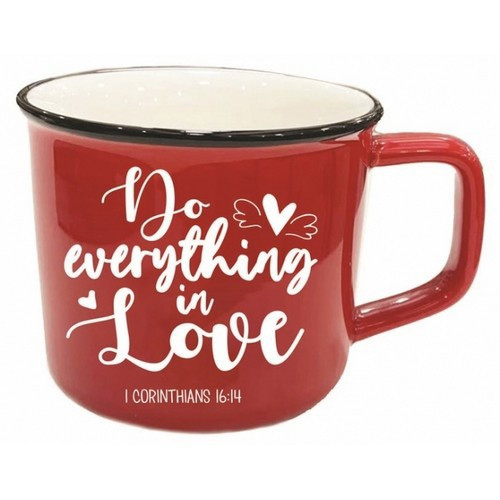 Mug: Do Everything in Love - Simple Red