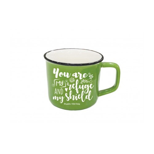 Mug: You Are My Refuge and My Shield - Simple Green