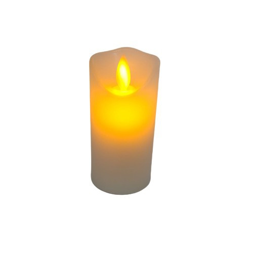 Moving Wick LED Candle: White 100mm x 50mm