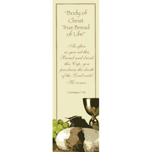 Bookmark: First Holy Communion Body of Christ - 5cm x 16.5cm