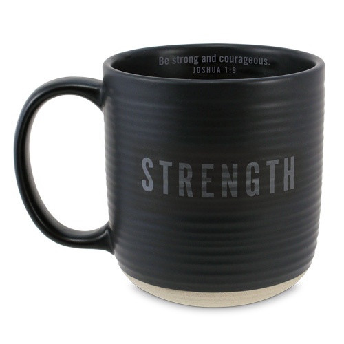 Mug: Strength - Black and Brown