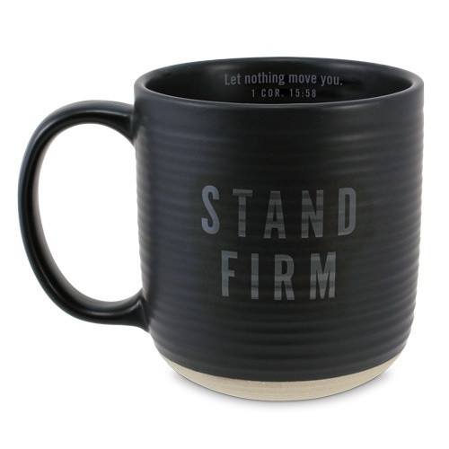 Mug: Stand Firm - Black and Brown