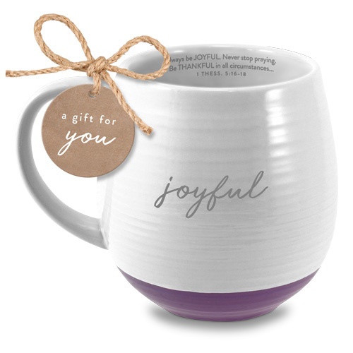 Mug: Joyful - White and Purple