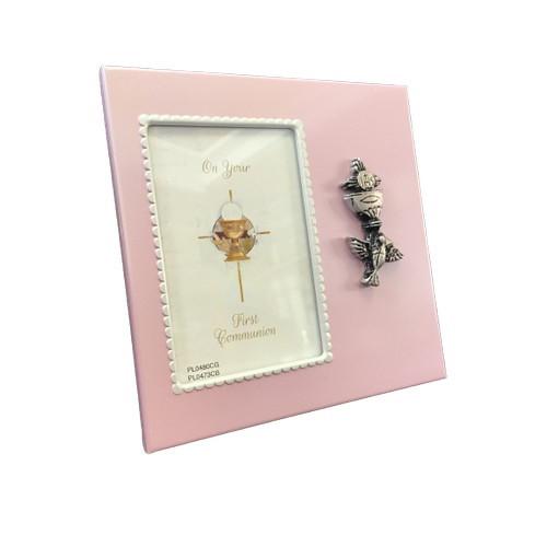 Photo Frame: Metal - Communion Pink 10cm
