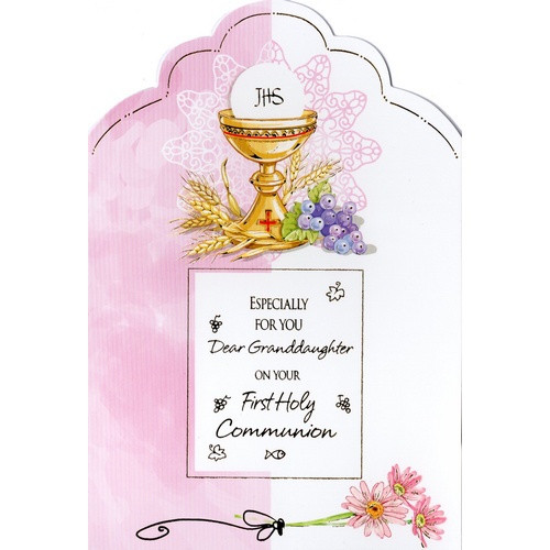 Card: First Holy Communion - Dear Granddaughter