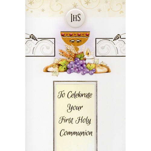 Card: To Celebrate Your First Holy Communion - Chalice