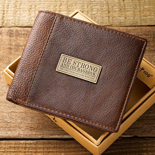 Wallet: Leather - Strong and Courageous