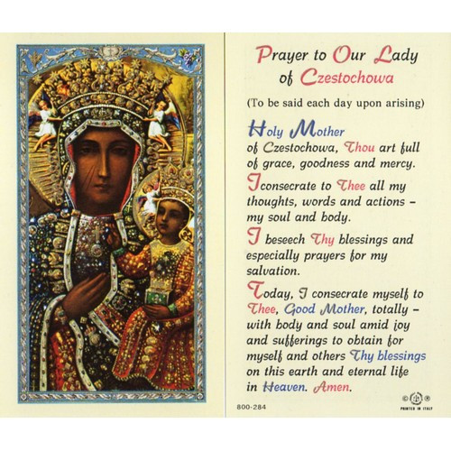 Holy Card:  Our Lady of Czestochowa