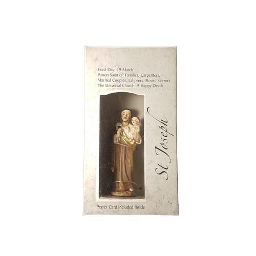 Statue: St Joseph in Box 9cm
