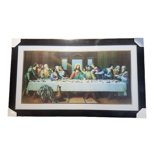Framed Last Supper: Black Large 87cm x 51cm