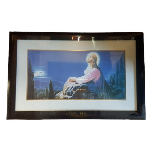 Framed Picture: Jesus Praying Oblong 48cm x 31cm