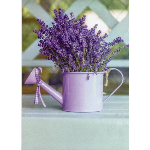 Card: Birthday - Lavender Watering Can