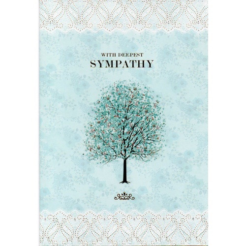 Card: With Deepest Sympathy - Blue Tree