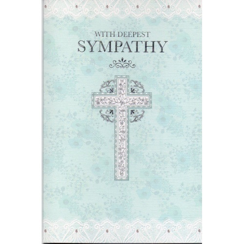 Card: With Deepest Sympathy - Blue Cross
