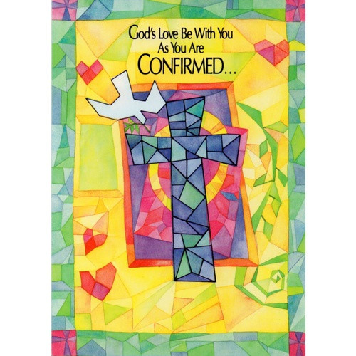 Card: Confirmation - Stained Glass
