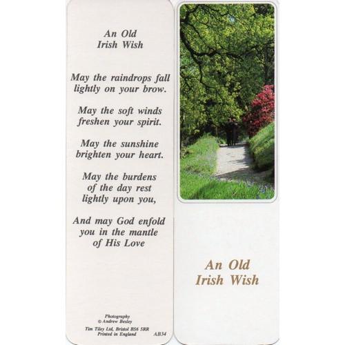 Bookmark: An Old Irish Wish - 5cm x 16cm