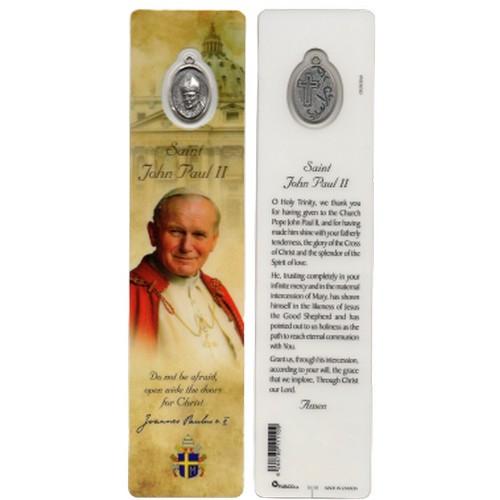 Bookmark with Medal: St John Paul II - 4.5cm x 18.5cm