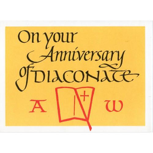 Card: Deacon Anniversary