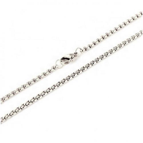 Stainless Steel Chain: Box Round 70cm