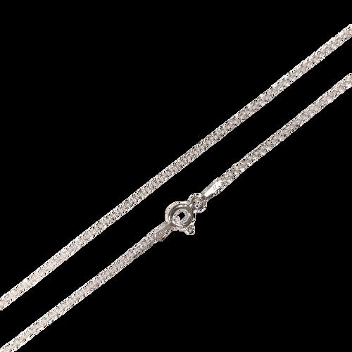 Sterling Silver Chain: 35 Fine Cable - 45cm