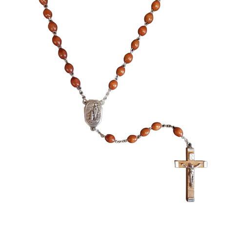 Rosary: Wood Lourdes