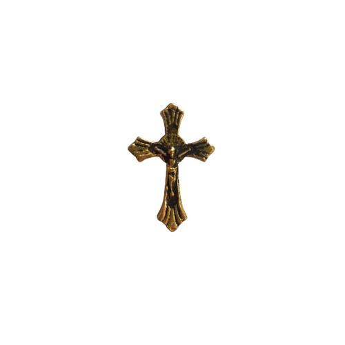 Crucifix Lapel Pin Gold