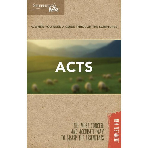 Book: Shepherds Notes - Acts