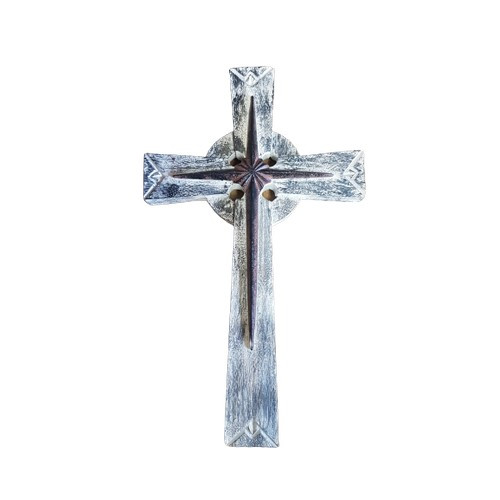 Cross: Rustic Star 30cm