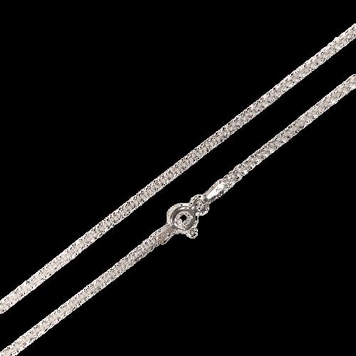 Sterling Silver Chain: 35 Fine Cable - 50cm