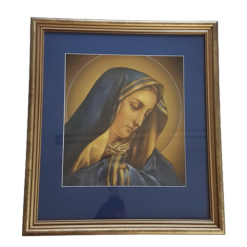 Framed Holy Picture: Mary