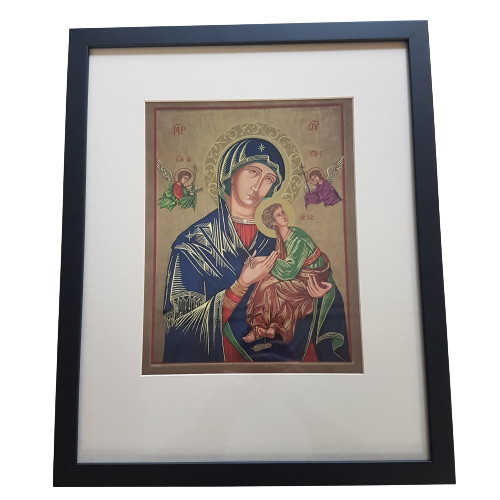 Framed Holy Picture: Our Lady of Perpetual Help Large