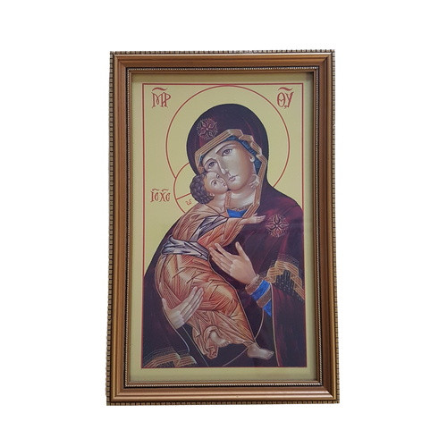 Framed Holy Picture: Mother and Child
