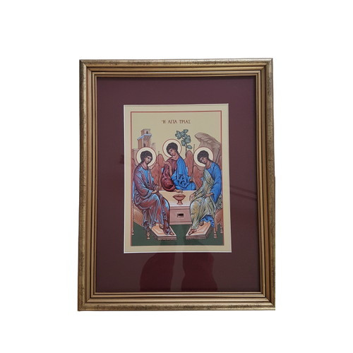Framed Holy Picture: Trinity