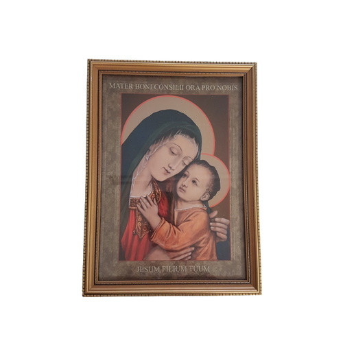Framed Holy Picture: Holy Mother of Good Counsel