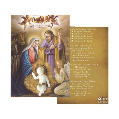 Baby Jesus Ornament Luminous with Prayer Card