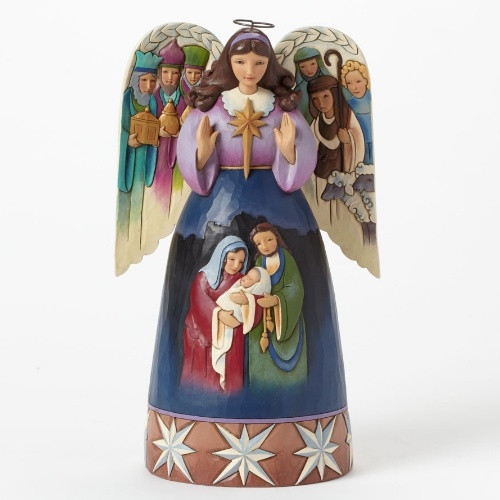 "Jim Shore Nativity: Angel - ""Lord at thy birth"""