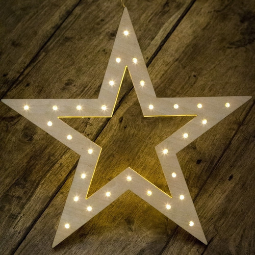 Christmas Decoration: LED Hanging Star - Battery Powered