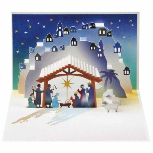 Hand Made Pop-Up Card: Nativity