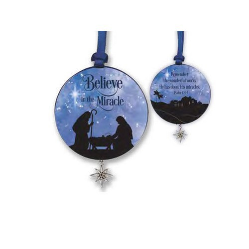 Christmas Ornament: Believe in Miracles 8cm