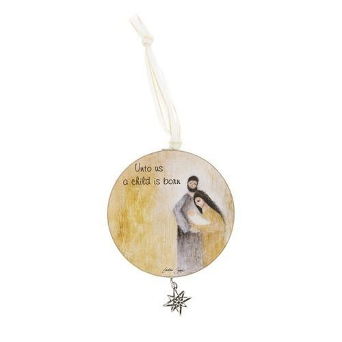 Christmas Ornament: Child is Born 8cm