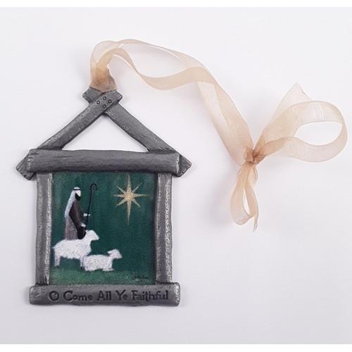 Christmas Ornament: O Come All Ye Faithful