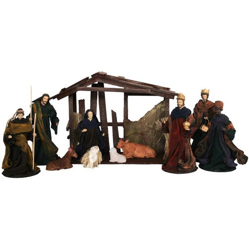 Nativity Set: 10-Piece 20cm - Without Stable